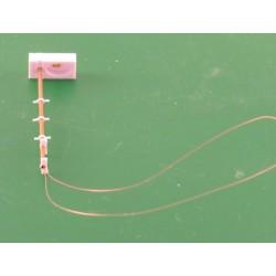 SBB Gleisfeld Lampe, altes Modell, einfach, mit LED, 1 Stück, Bausatz