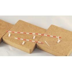 Baustellenabsperrung Set 01 / 5 Bretter, 6 Pfosten Neutral kurz, 6 Sockel neutral, gerade