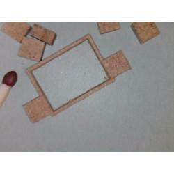Kabelschacht, sichtbarem Rahmen, 2 Anschlüsse