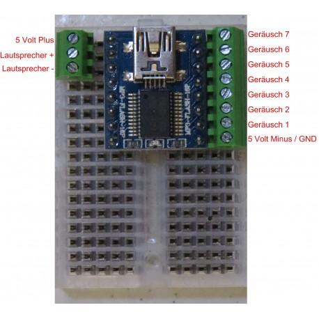 Soundplayer USB MP3 8 MB mit SBB Baustellen Warnsignal