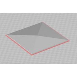 Option Dach schräg für Kabelverteilschutzhäuschen, klein, 1 Stück