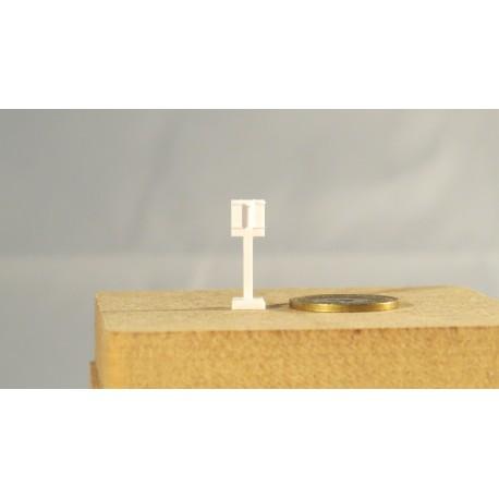 Zugabfertigung Integra, kurz 2 (3) Geräte aussen, grosse Platte, 2 Stück